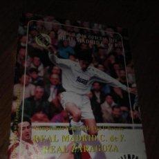 Coleccionismo deportivo: REVISTA REAL MADRID C DE FUTBOLREAL ZARAGOZA. Lote 91524217