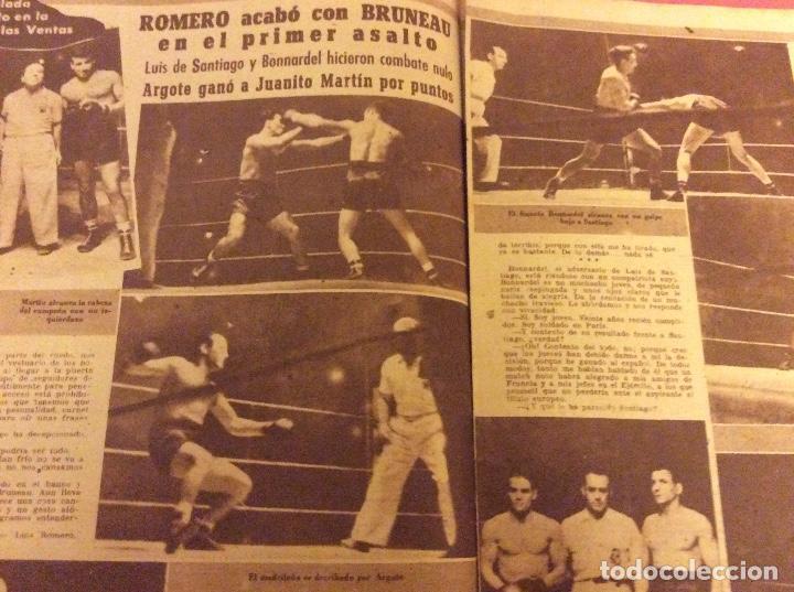 Coleccionismo deportivo: SEMANARIO MARCA . JUNIO 1950. ESPAÑA 3 -EEUU 1. - Foto 3 - 91761060