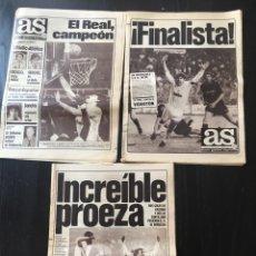 Coleccionismo deportivo: LOTE 3 DIARIO GRAFICO DEPORTIVO AS 1985. Lote 92032904