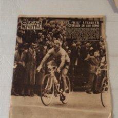 Coleccionismo deportivo: VIDA DEPORTIVA Nº 601 - POBLET VENCEDOR MILÁN-SAN REMO - BALONCESTO : ESPAÑA-ITALIA. Lote 92054160