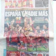Coleccionismo deportivo: MARCA 2 DE JULIO DE 2012 ESPAÑA Y NADIE MÁS CAMPEONA DE EUROPA. NÚMEROS ESPECIAL. . Lote 92314015