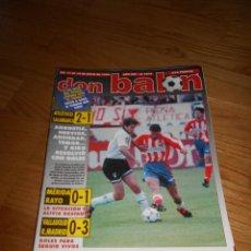 Colecionismo desportivo: DON BALÓN 1074 13-5-1996 ATLÉTICO MADRID LOPETEGI CANTATORE JANCKER BUTRAGUEÑO CON POSTER PERFETA. Lote 93080630