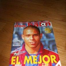 Colecionismo desportivo: DON BALON 1997 1110 RACING SANTANDER 96/97 RONALDO FIFA WORLD PLAYER 1996-CAMACHO ILLGNER POSTER. Lote 93082225