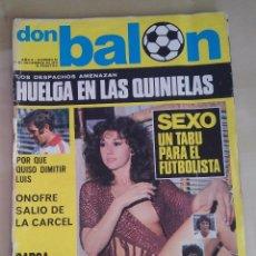 Coleccionismo deportivo: DON BALÓN Nº 64 (21 DICIEMBRE 1976) - SEXO, UN TABÚ PARA EL FUTBOLISTA. Lote 93843850