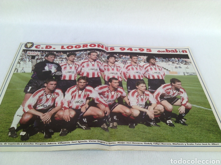 Coleccionismo deportivo: DON BALON N-1018 AÑO 1995 POSTER:LOGROÑES 94-95 - Foto 2 - 94066935