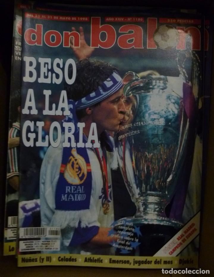 LOTE DE 85 REVISTAS DON BALON Nº SUELTOS DE 1996 A 2003 LA SEPTIMA DEL MADRID FRANCIA MUNDIAL 98 ETC (Coleccionismo Deportivo - Revistas y Periódicos - Don Balón)