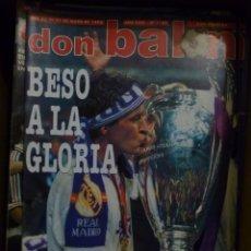 Coleccionismo deportivo: LOTE DE 85 REVISTAS DON BALON Nº SUELTOS DE 1996 A 2003 LA SEPTIMA DEL MADRID FRANCIA MUNDIAL 98 ETC. Lote 94184760
