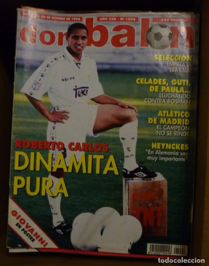 Coleccionismo deportivo: Lote de 85 revistas Don Balon nº sueltos de 1996 a 2003 La septima del Madrid Francia mundial 98 etc - Foto 3 - 94184760