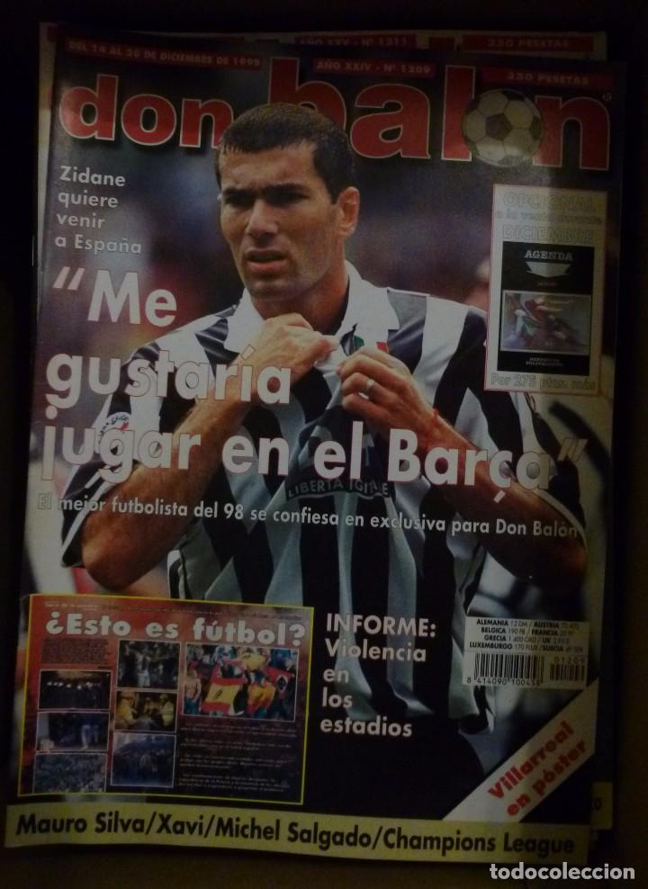 Coleccionismo deportivo: Lote de 85 revistas Don Balon nº sueltos de 1996 a 2003 La septima del Madrid Francia mundial 98 etc - Foto 7 - 94184760