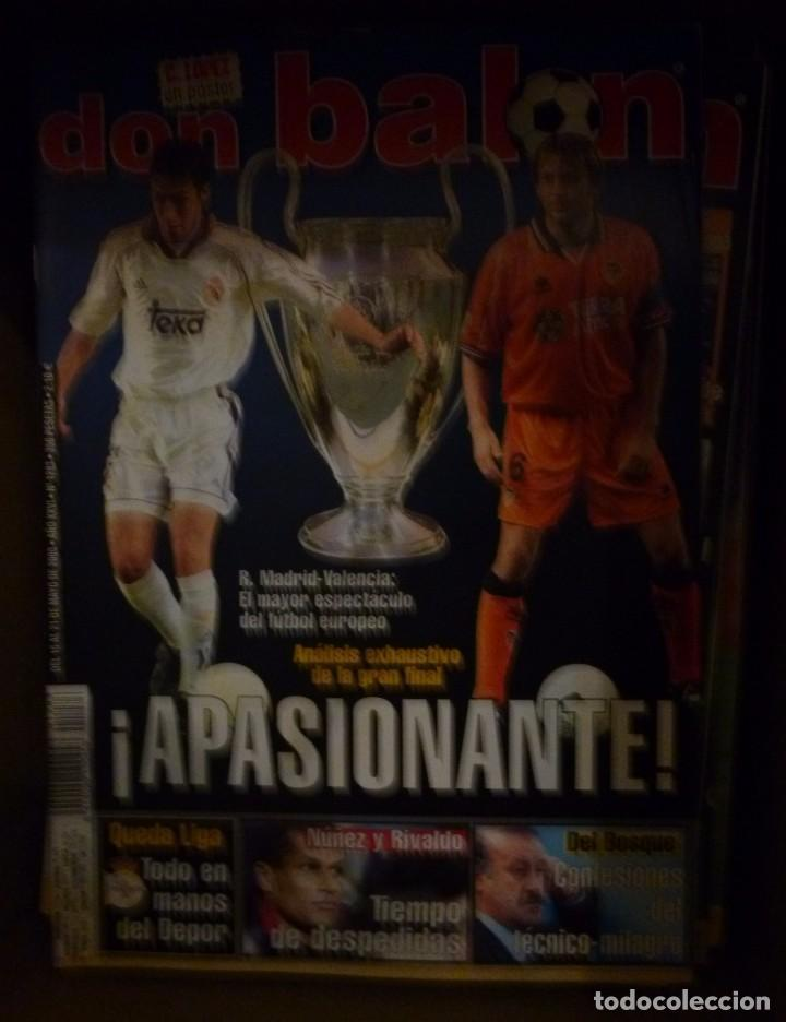 Coleccionismo deportivo: Lote de 85 revistas Don Balon nº sueltos de 1996 a 2003 La septima del Madrid Francia mundial 98 etc - Foto 10 - 94184760