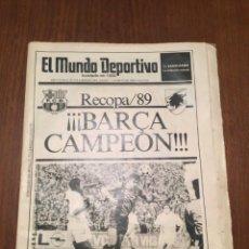 Coleccionismo deportivo: MUNDO DEPORTIVO JUEVES 11 MAYO 1989. Lote 94529212