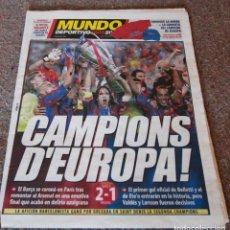 Coleccionismo deportivo: MUNDO DEPORTIVO - FINAL CHAMPIONS F.C. BARCELONA VS ARSENAL - 18.05.2006 - NUEVA. Lote 95139087