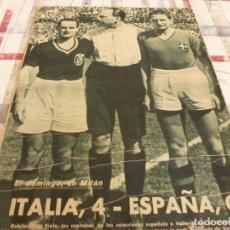 Coleccionismo deportivo: MARCA(21-4-42) SENSACIONAL SQUADRA AZURRA EN MILAN!!!! ITALIA 4 ESPAÑA 0!!!MARTORELL HEROE ESPAÑOL. Lote 95696671