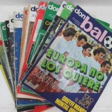Coleccionismo deportivo: LOTE DE 13 REVISTAS: SON BALÓN REVISTA DEPORTIVA 1976. Lote 95730211
