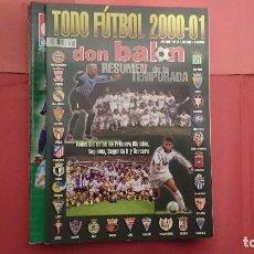 Coleccionismo deportivo: TODO FÚTBOL 2000-2001 DON BALÓN TODOS LOS DATOS DE PRIMERA DIVISIÓN, SEGUNDA Y TERCERA. Lote 95736191