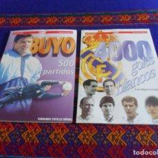 Coleccionismo deportivo: REAL MADRID. 4000 GOLES BLANCOS DE LUIS MIGUEL GONZÁLEZ. DIARIO AS. REGALO BUYO 500 PARTIDOS BE RARO. Lote 95827487