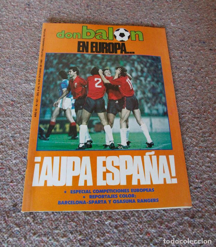 REVISTA DON BALÓN Nº 521 - 1985 - ESPECIAL COMPETICIONES EUROPEAS - MUY BUEN ESTADO (Coleccionismo Deportivo - Revistas y Periódicos - Don Balón)