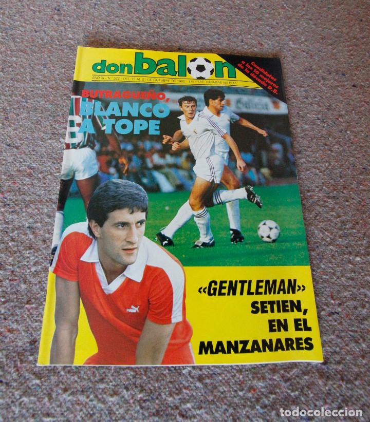 REVISTA DON BALÓN Nº 522 - 1985 - BUTRAGUEÑO, QUIQUE SETIEN - MUY BUEN ESTADO (Coleccionismo Deportivo - Revistas y Periódicos - Don Balón)