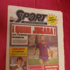 Coleccionismo deportivo: SPORT. Nº 461. 28 FEBRERO 1981. ¡ QUINI JUGARA !. LLEGO CRUYFF. EL LEVANTE PAGO.. Lote 96109775