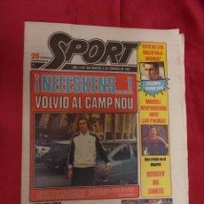 Coleccionismo deportivo: SPORT. Nº 436. 3 FEBRERO 1981. NEEESKENS: VOLVIO AL CAMP NOU. QUINI: SU MAJESTAD, EL GOL. Lote 96109927
