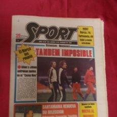 Coleccionismo deportivo: SPORT. Nº 438. 5 FEBRERO 1981. TANDEM IMPOSIBLE. BASKET: SIGUE LA RACHA AZULGRANA.. Lote 96110123