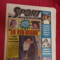 Coleccionismo deportivo: SPORT. Nº 439. 6 FEBRERO 1981. VUELVE EL BARÇA DE LOS TRES CENTRALS. H. H. PERDIO LA SONRISA. . Lote 96110279