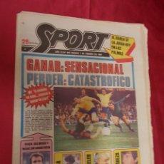 Coleccionismo deportivo: SPORT. Nº 440. 7 FEBRERO 1981. GANAR: SENSACIONAL, PERDER: CATASTROFICO. REXACH. ARMA SECRETA. Lote 96110403