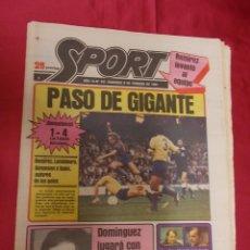 Coleccionismo deportivo: SPORT. Nº 441. 8 FEBRERO 1981. PASO DE GIGANTE. LAS PALMAS, 1- BARCELONA, 4. SENSACIONAL.. Lote 96110579