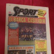Coleccionismo deportivo: SPORT. Nº 442. 9 FEBRERO 1981. EL BARÇA, CASI LIDER. LOS ARBITROS CONTRA EL ESPAÑOL.. Lote 96110863