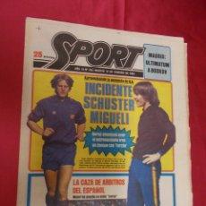 Coleccionismo deportivo: SPORT. Nº 443. 10 FEBRERO 1981. INCIDENTE SCHUSTER MIGUELI. MILAGRO SIMONSEN.. Lote 96111035