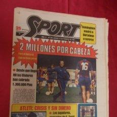 Coleccionismo deportivo: SPORT. Nº 445. 12 FEBRERO 1981. PARA EL BARÇA LA LIGA YA TIENE PRIMA. ATLETI: CRISIS Y SIN DINERO. Lote 96111175