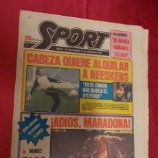 Coleccionismo deportivo: SPORT. Nº 446. 13 FEBRERO 1981. CABEZA QUIERE ALQUILAR A NEESKENS. ADIOS, MARADONA.. Lote 96111331