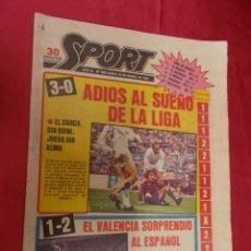 Coleccionismo deportivo: SPORT. Nº 489. 30 MARZO 1981. 3-0. ADIOS AL SUEÑO DE LA LIGA. EL BARÇA SIN QUINI, JUEGA SIN ALMA. Lote 96111751