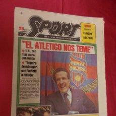 Coleccionismo deportivo: SPORT. Nº 459. 26 FEBRERO 1981. EL ATLETICO NOS TEME. . Lote 96111831
