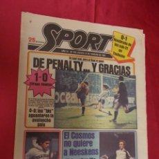 Coleccionismo deportivo: SPORT. Nº 452. 19 FEBRERO 1981. SE JUGÓ MAL, PERO AL FINAL SE GANÓ. DE PENALTY... Y GRACIAS. . Lote 96111883