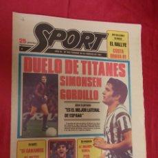 Coleccionismo deportivo: SPORT. Nº 453. 20 FEBRERO 1981. DUELO DE TITANES. SIMONSEN, GORDILLO. . Lote 96112071