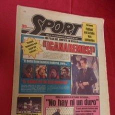 Coleccionismo deportivo: SPORT. Nº 454. 21 FEBRERO 1981. ¡ GANAREMOS !. EL BARÇA ES UN CUATRIMOTOR.. Lote 96112279