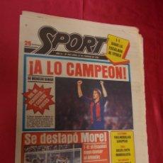 Coleccionismo deportivo: SPORT. Nº 456. 23 FEBRERO 1981. 1-1. SIGUE LA ESCALADA AL TITULO. ¡ A LO CAMPEON !. SE MERECIO GANAR. Lote 96112559