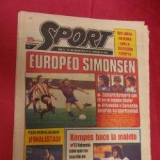 Coleccionismo deportivo: SPORT. Nº 458.25 FEBRERO 1981. EUROPEO SIMONSEN. . Lote 96113015