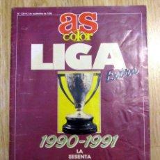 Colecionismo desportivo: AS COLOR EXTRA LIGA 1990-91 POSTER REAL MADRID PLANTILLA. Lote 145515332