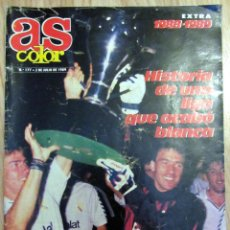 Coleccionismo deportivo: AS COLOR EXTRA LIGA 1988-89 POSTER REAL MADRID CAMPEON LIGA. Lote 96466003