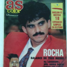 Coleccionismo deportivo: REVISTA AS COLOR N°292 AÑO 1991.ROCHA.BARCELONA 92.MARLENE OTTEY.. Lote 96839470