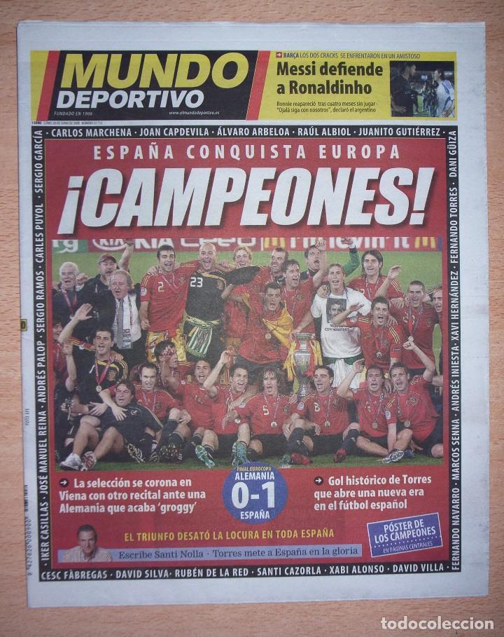 PERIODICO MUNDO DEPORTIVO NUEVO ESPAÑA CAMPEONA DE LA EUROCOPA 2008 08 (Coleccionismo Deportivo - Revistas y Periódicos - Mundo Deportivo)