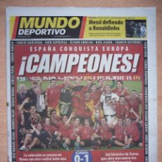 Coleccionismo deportivo: PERIODICO MUNDO DEPORTIVO NUEVO ESPAÑA CAMPEONA DE LA EUROCOPA 2008 08. Lote 96930107