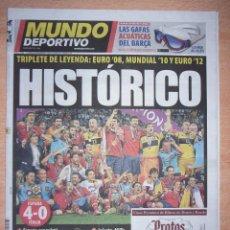 Coleccionismo deportivo: PERIODICO MUNDO DEPORTIVO ••• NUEVO ••• ESPAÑA CAMPEONA DE LA EUROCOPA 2012. Lote 96930307