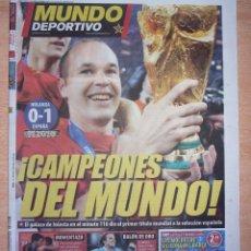 Coleccionismo deportivo: PERIODICO MUNDO DEPORTIVO NUEVO ESPAÑA CAMPEONA DEL MUNDIAL 2010 10. Lote 96930519