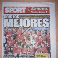 Coleccionismo deportivo: PERIODICO SPORT NUEVO ESPAÑA CAMPEONA DE LA EUROCOPA 2008 08. Lote 96931027