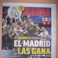 Coleccionismo deportivo: PERIODICO MARCA NUEVO REAL MADRID CAMPEON SUPERCOPA EUROPA TEMPORADA 2017 2018 17 18. Lote 96934063