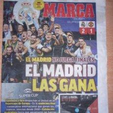 Coleccionismo deportivo: PERIODICO MARCA NUEVO REAL MADRID CAMPEON SUPERCOPA EUROPA TEMPORADA 2017 2018 17 18. Lote 96934815