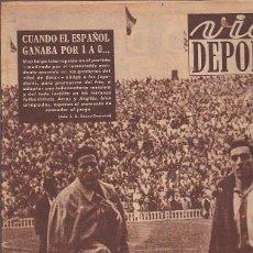 Colecionismo desportivo: REVISTA DEPORTIVA VIDA DEPORTIVA 15-12-1952. Lote 97281915